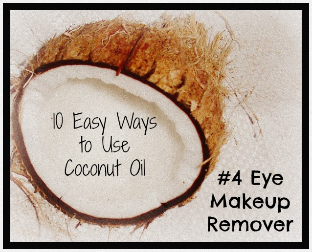 If you've got foundation or other face make up on, go ahead and massage the coconut oil around the rest of your face. Next, use a warm wet washcloth to gently remove the coconut oil. Next, use a warm wet washcloth to gently remove the coconut oil.